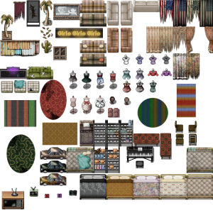 Modern and Post-Apocalyptic Furniture Tileset 1