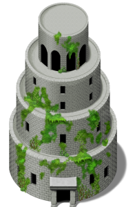 Babel Tower with vegetation