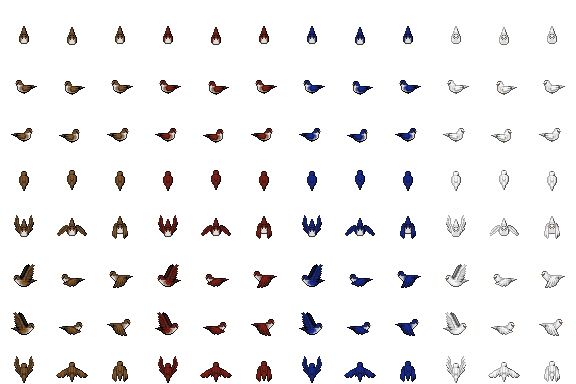 Misc. flying birds sprite
