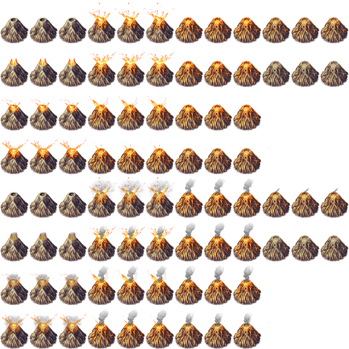 Animated Volcano - RPG TileSet Free Curated Assets for your