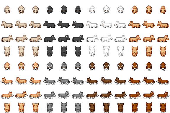 Corgi Dog Sprite - RPG TileSet Free Curated Assets for your