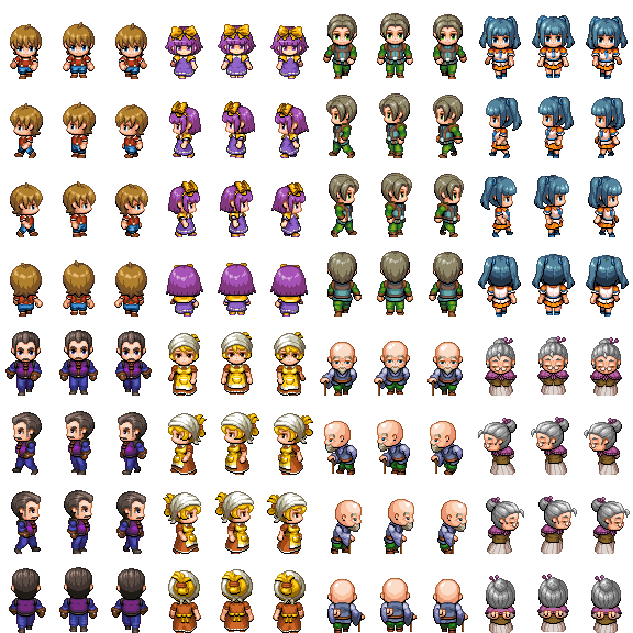 People1 png Tall Sprite - RPG TileSet Free Curated Assets for your