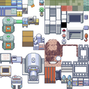 Pokemon Aqua Hideout and Bill's House