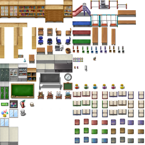 Modern Bedroom tileset - RPG TileSet Free Curated Assets for